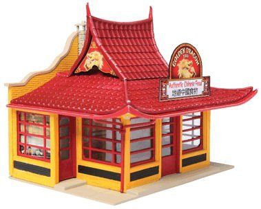 Walthers, Inc. Golden Dragon Chinese Take Out Kit, 3-1/8 x 2-1/2 X 2-5/8