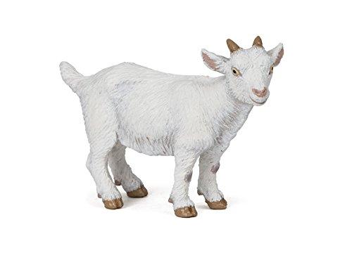 Papo White Kid Goat Figure, Multicolor (Goat Figurine)