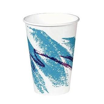 Solo Cup Company papel caliente vasos expendedoras, 8 oz, diseño de Jazz, 100/bolsa - 20 mangas de 100 tazas. 2000 por caja.: Amazon.es: Amazon.es