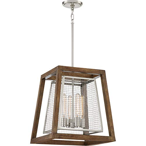 Quoizel CTY5204BN Courtyard Foyer Piece Chandelier, Brushed - Quoizel Chandelier Cage