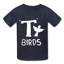 SANYOU Kid's Hot Topic Grease T Birds Logo T-shirts