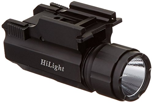 Aimkon HiLight P10S 500 Lumen Pistol LED Strobe Flashlight with Weaver Quick Release for Glock Series, Sig Sauer, Smith & Wesson, Springfield, Beretta, Ruger, and Heckler & Koch, etc. (Certified Refu