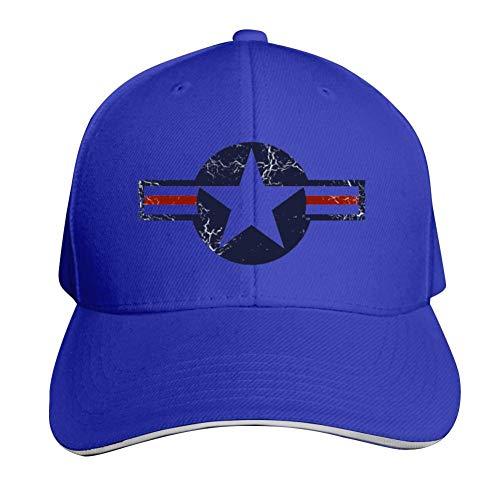 USAF Roundel Baseball Cap Adjustable Sandwich Hats Unisex Sun Hat Blue