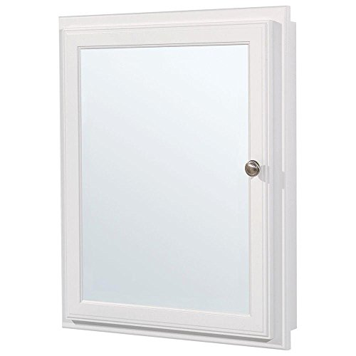 American Classics 21 in. Recessed or Surface Mount Medicine Cabinet in White - Classic Recessed Medicine Cabinet