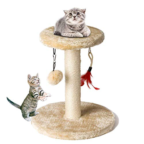 Cat Tree Tower, Zubita Cat Climber Shelf Pet Kitty Furniture Scratching Post Climber House for Playing Relax and Sleep. by Zubita
