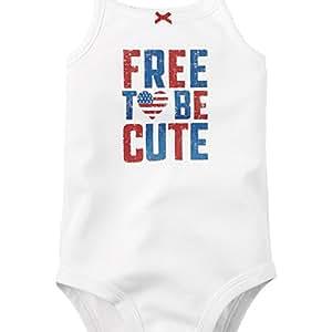 Carter's Baby Girls' 4th of July Bodysuit (3M, White)