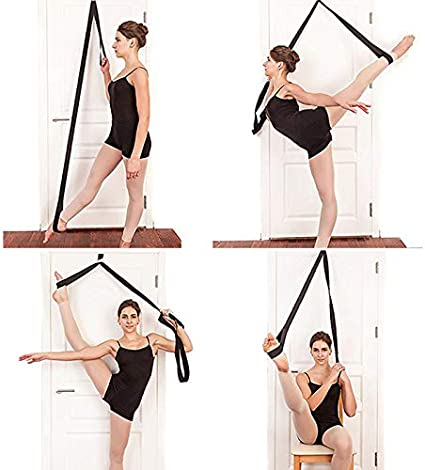 Fintass Leg Stretching Tool Dancer Stretch Band Strap Exercise for Home Dance Ballet Yoga Door Leg Stretcher Band