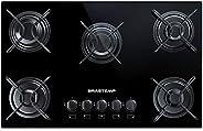 Cooktop 5 bocas Brastemp com grades piatina e acendimento automático - BDD75AE BIVOLT