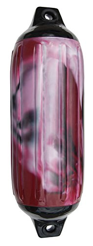 Taylor Made Products 965622 Super Gard Inflatable Vinyl Boat Fender 6.5 x 22 inch, Cranberry Swirl ()