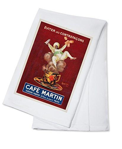 Cappiello Cafe Leonetto - Cafe Martin (artist: Cappiello, Leonetto) c. 1921 - Vintage Artwork (100% Cotton Kitchen Towel)