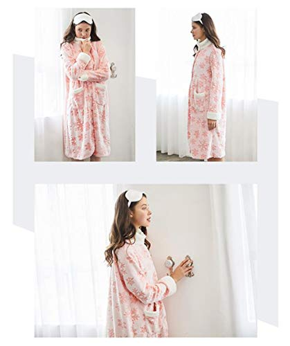color Pink Y Franela Pijamas Metro Domicilio Para Tamaño Pink Casual Camisón A Mujeres Suelto Servicio De FqEqzPwx7