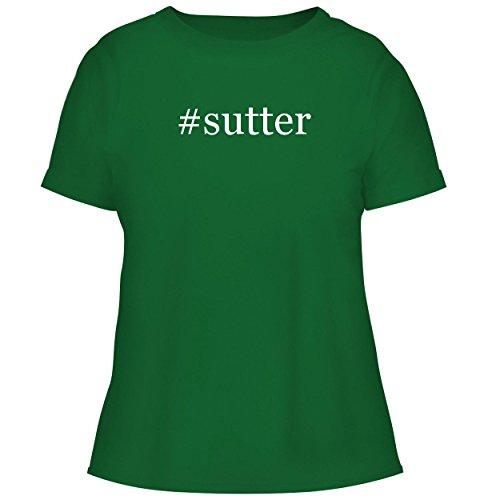 BH Cool Designs #Sutter - Cute Women's Graphic Tee, Green, (Sutter Merlot)