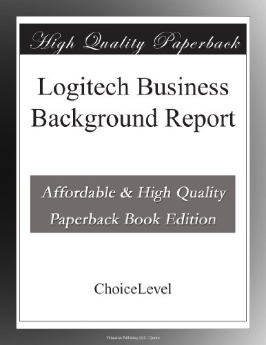 Price comparison product image Logitech Business Background Report
