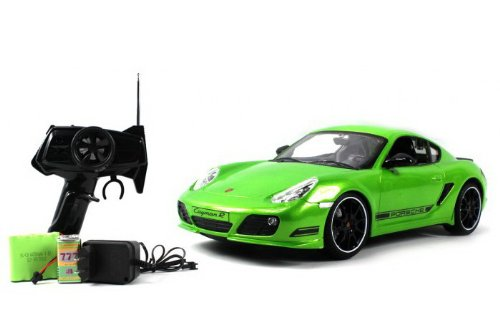 Radio Remote Control Model Car 1/16 Porsche Cayman R Authentic Body Styling with Lights R/C Ready to Run (Green) (Rc Car Working Lights compare prices)