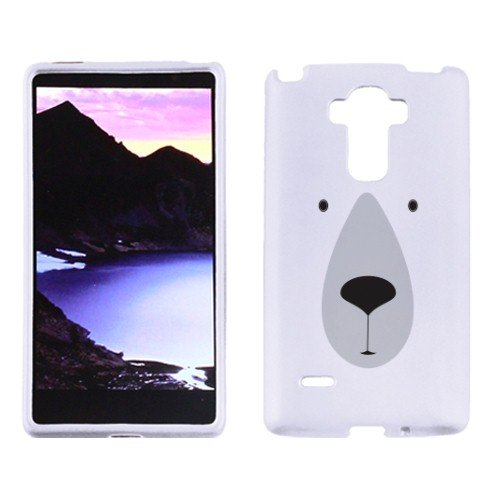 Fincibo (TM) LG G4 Note Stylus LS770 Protector Cover Case Snap On Hard Plastic - Polar Bear, Front And Back