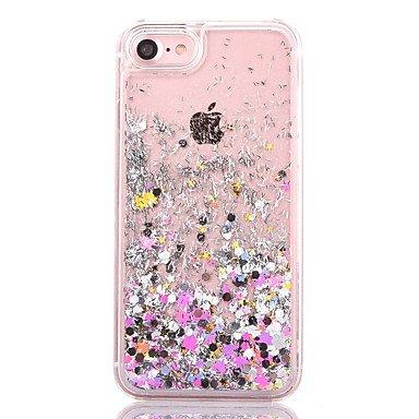 Fundas y estuches para teléfonos móviles, Caso para el iphone 7 más caso de estrella de la cubierta del caso 7 que fluye la caja líquida del teléfono del materia de la PC del ( Color : Rosa , Modelos