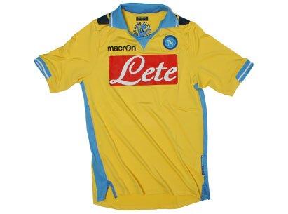SSC Napoli Marcron Nápoles de Marsella talla XL amarillo: Amazon ...