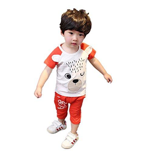 ftsucq-little-boys-cartoon-pattern-shirt-top-with-middle-pants-two-pieces-setsorange-110