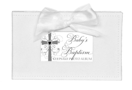 The Grandparent Gift Co. Growing in Faith Keepsake Photo Album, Baby Baptism