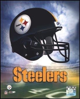 Pittsburgh Steelers Helmet Logo Art Poster PRINT Unknown 8x10