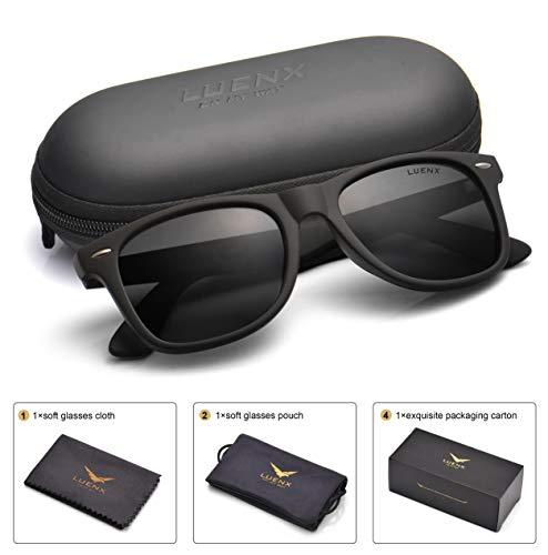 uv bans der beste preis amazon in savemoney esmens polarized sunglasses for womens uv 400 protection black lens matte black frame 54mm,by