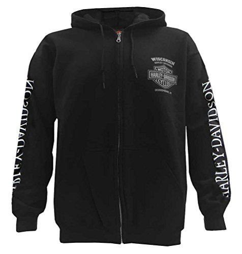 Harley Davidson Skull Full Zip Hooded Sweatshirt