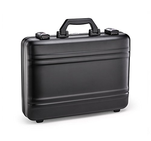 - Zero Halliburton Premier Plus Aluminum Attache Case in Black