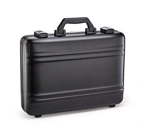 (Zero Halliburton Premier Plus Aluminum Attache Case in Black)