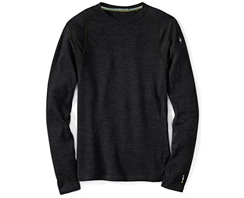 Smartwool Men's NTS Mid 250 Crew Top, Charcoal Heather, LG