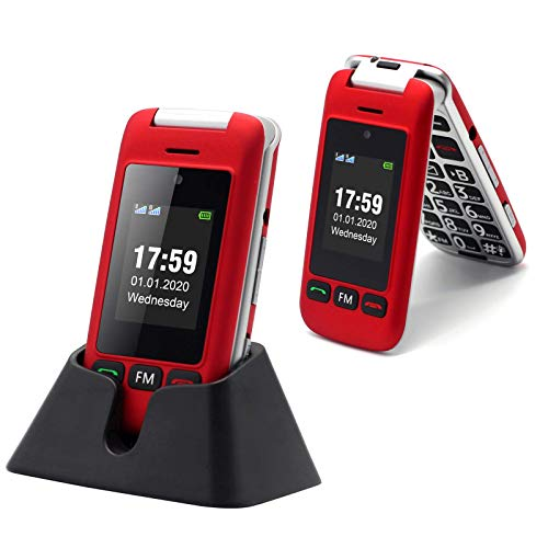 🥇 Artfone Flip Teléfono móviles para Personas Mayores con Teclas Grandes con Pantalla de 2.4 Pulgadas