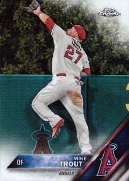 Amazoncom 2016 Topps Chrome 1 Mike Trout Baseball Card