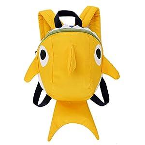 Mackur Shark Shape Children School Bag with Rein Kids Anti-Lost Rucksack Backpack for Preschool Travel Outdoor 15 * 21…