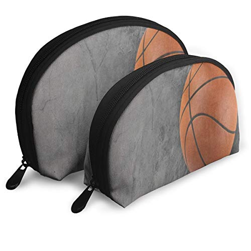 Makeup Bag 3D Basketball Ball Portable Shell Cosmetic Bags For Girls Halloween Gift Pack - 2 ()
