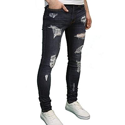 1c9783d2ed30 526 Mens Designer Stretch Super Skinny Ripped Abraised Distressed Jeans
