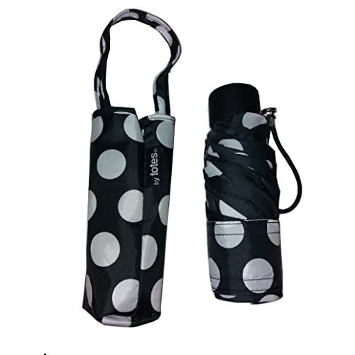 Totes Neverwet Micro Mini Purse Manual Umbrella Black With White