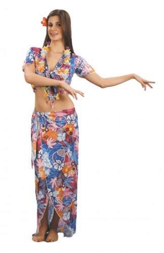 Ladies Fancy Dress Costume Hawaiian Beauty Tropical Lua by Pams (Hawaiian Beauty Costume)