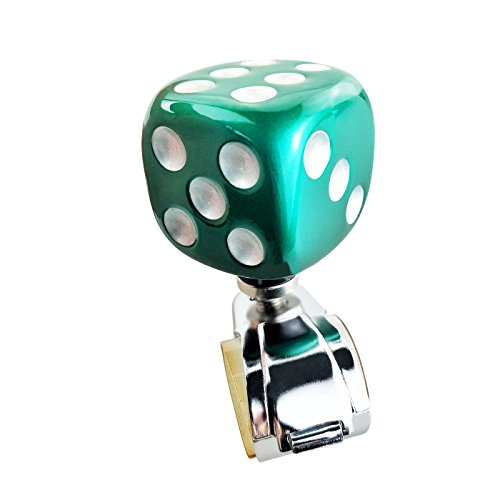 Lensuntom LUNSOM Suicide Knob for Steering Wheel Spinner Knobs Heavy Duty Steering Wheel Power Handle Green Square Cube for Drivers