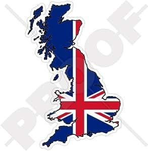 Reino Unido British map-flag UK 5.5(140mm) vinilo Bumper, adhesivo