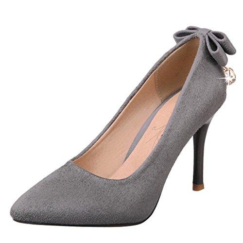 Charm Foot Womens Elegante Scarpe A Punta Tacco Alto Scarpe Con Tacchi Alti Grigio