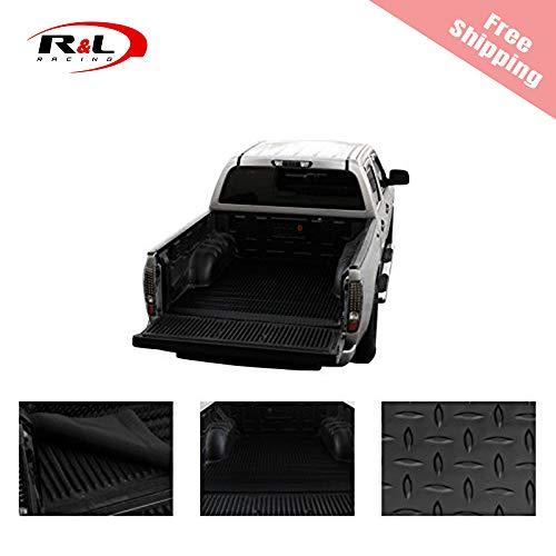 (R&L Racing Black Truck Bed Mat Rubber Diamond Plate Trunk Floor Carpet 2007-2017 for Chevy Silverado 5.5/5.8' )