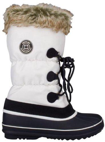 Schreuders Bianco Invernale Blu Sport Canadese Neve Stivali Grigio Navy Lacci Presa Strapper Femminile Da rwrgqEvFx