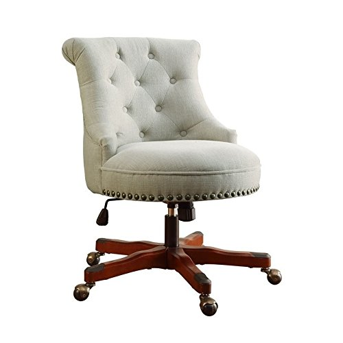Linon Sinclair Executive Office Chair (Natural) from Linon