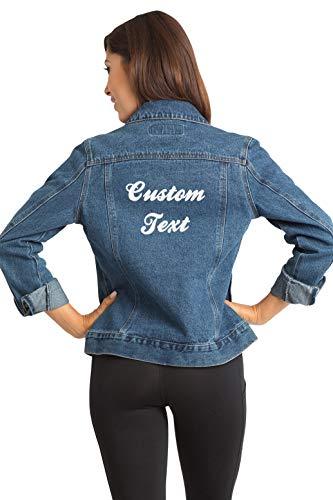 Custom Embroidered Denim Jacket - Small (Denim Custom Jacket)