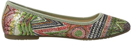 Bailarinas 22106 760 Comb para Green Multicolor Mujer Tamaris Ovw1Rxaw