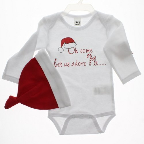 Baby Ganz Christmas Baby Diaper Shirt and cap-Oh come let us adore me by Ganz by Ganz