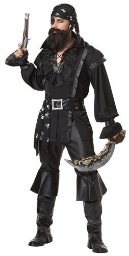 [California Costumes Men's Plundering Pirate Adult, Black, Large] (Pirate Man Adult Costumes)