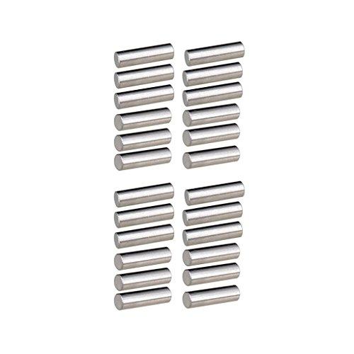 Homyl Pack of 24 Alnico 5 Guitar Pickup Magnet Slug Rods 15mm+18mm for Guitar Parts Accessories