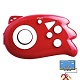 E-MODS GAMING TV Mini Handheld Game Console, Plug & Play Player with 89 TV Games for Kids -Red