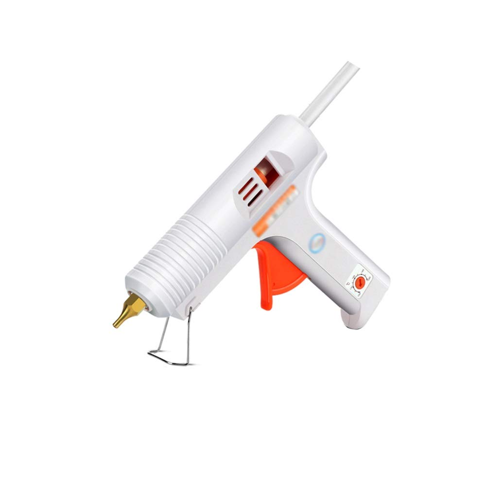 XF Hong Tai Yang Hot melt Glue Gun with 30/60 Glue Sticks 100/120W Dual Power high Temperature Children Adult DIY Art Creation and Seal Repair, White // (Color : B, UnitCount : 30 Glue Sticks)