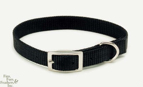 Coastal Pet Products DCP290124BLK Nylon Double Dog Collar, 1 by 24-Inch, Black